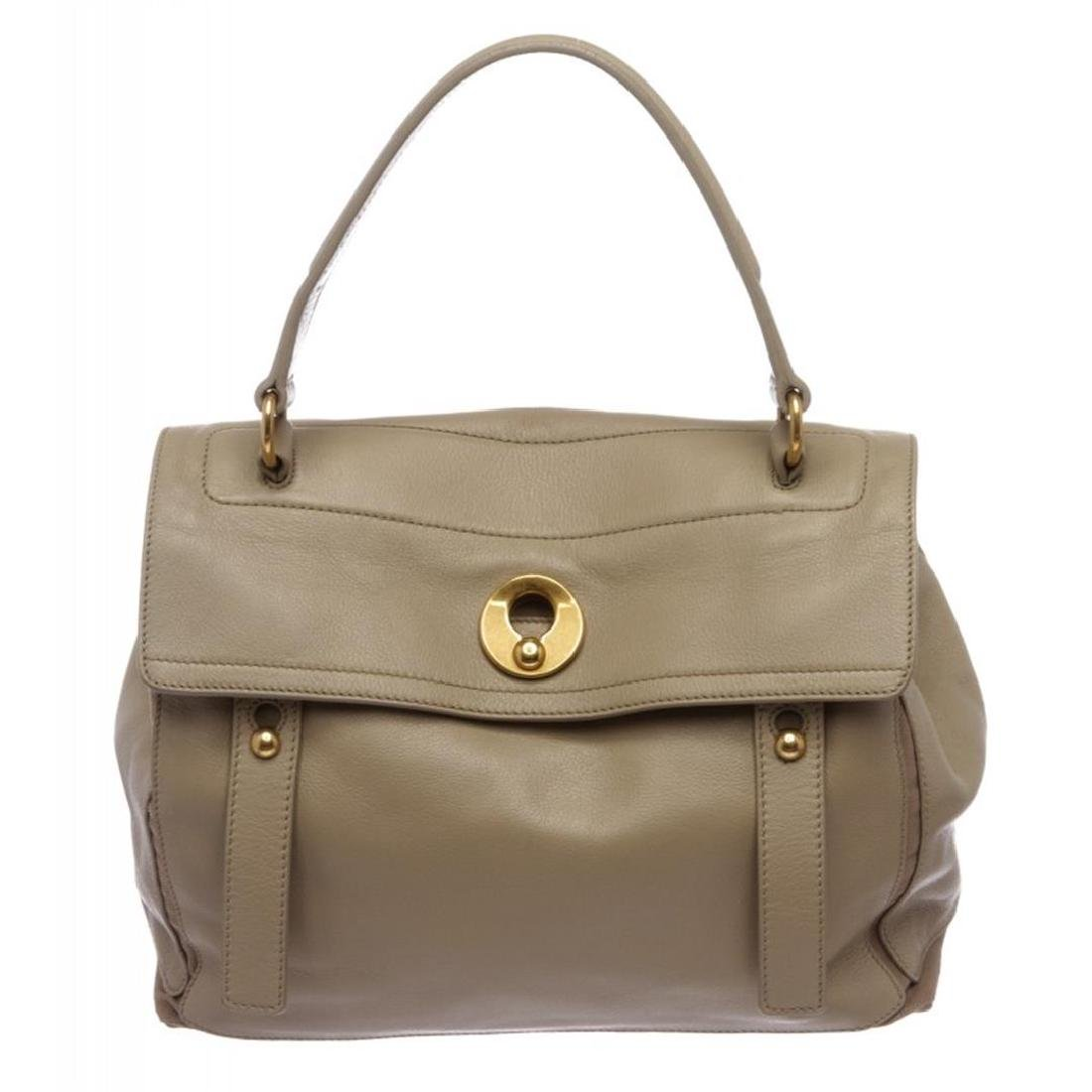 Yves Saint Laurent Taupe Leather Muse Two Tote Bag