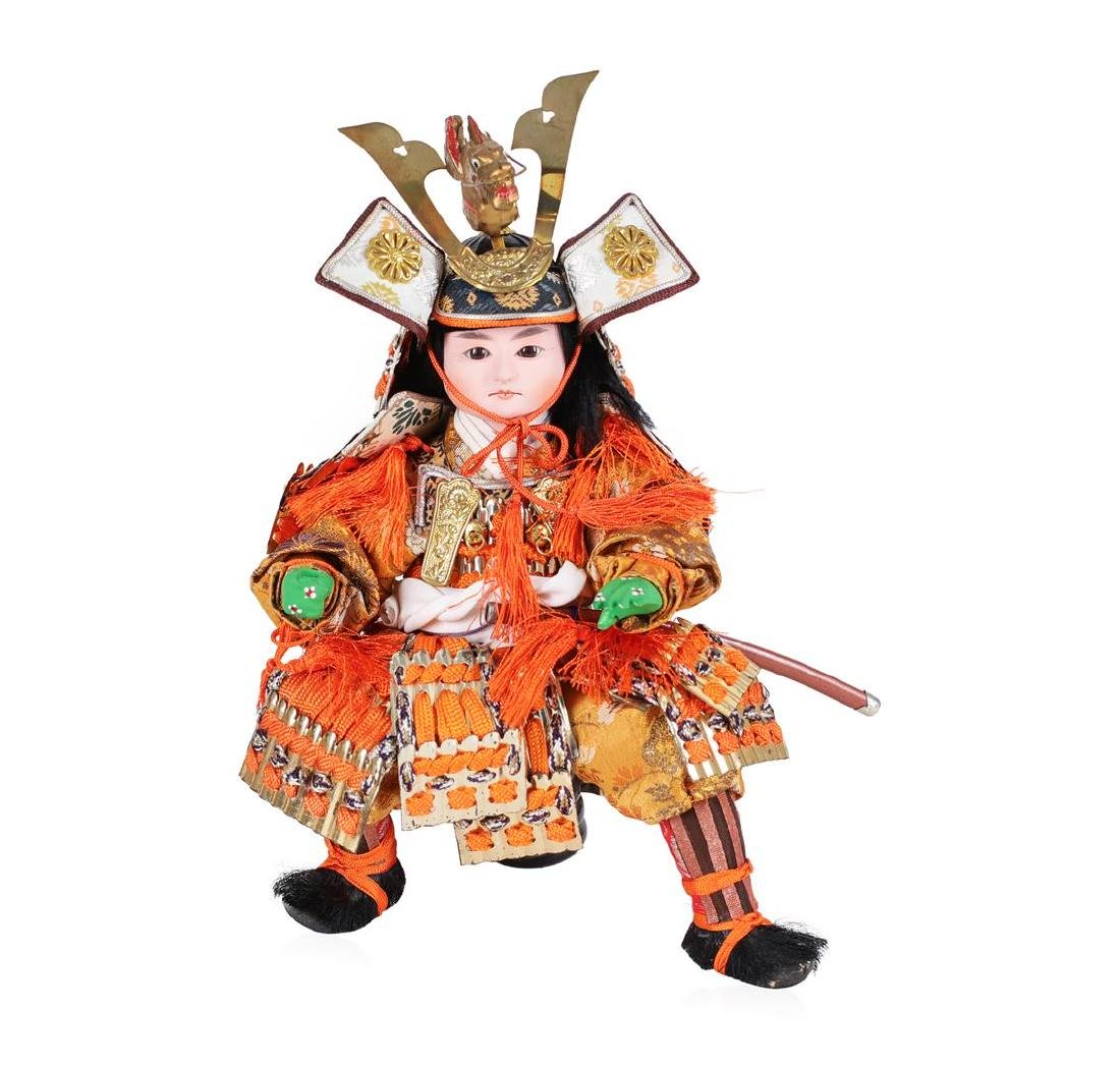 Vintage Japan Bisque Warrior Doll