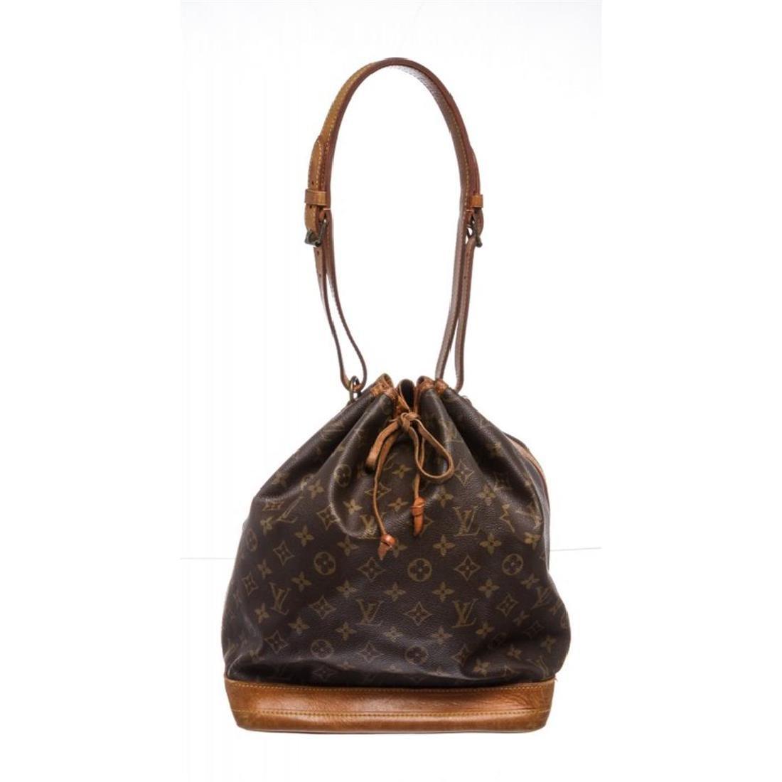 Louis Vuitton Monogram Canvas Leather Noe GM Drawstring
