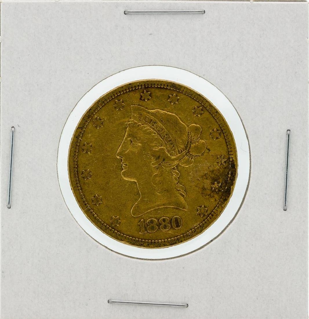 1880-S $10 VF Liberty Head Eagle Gold Coin