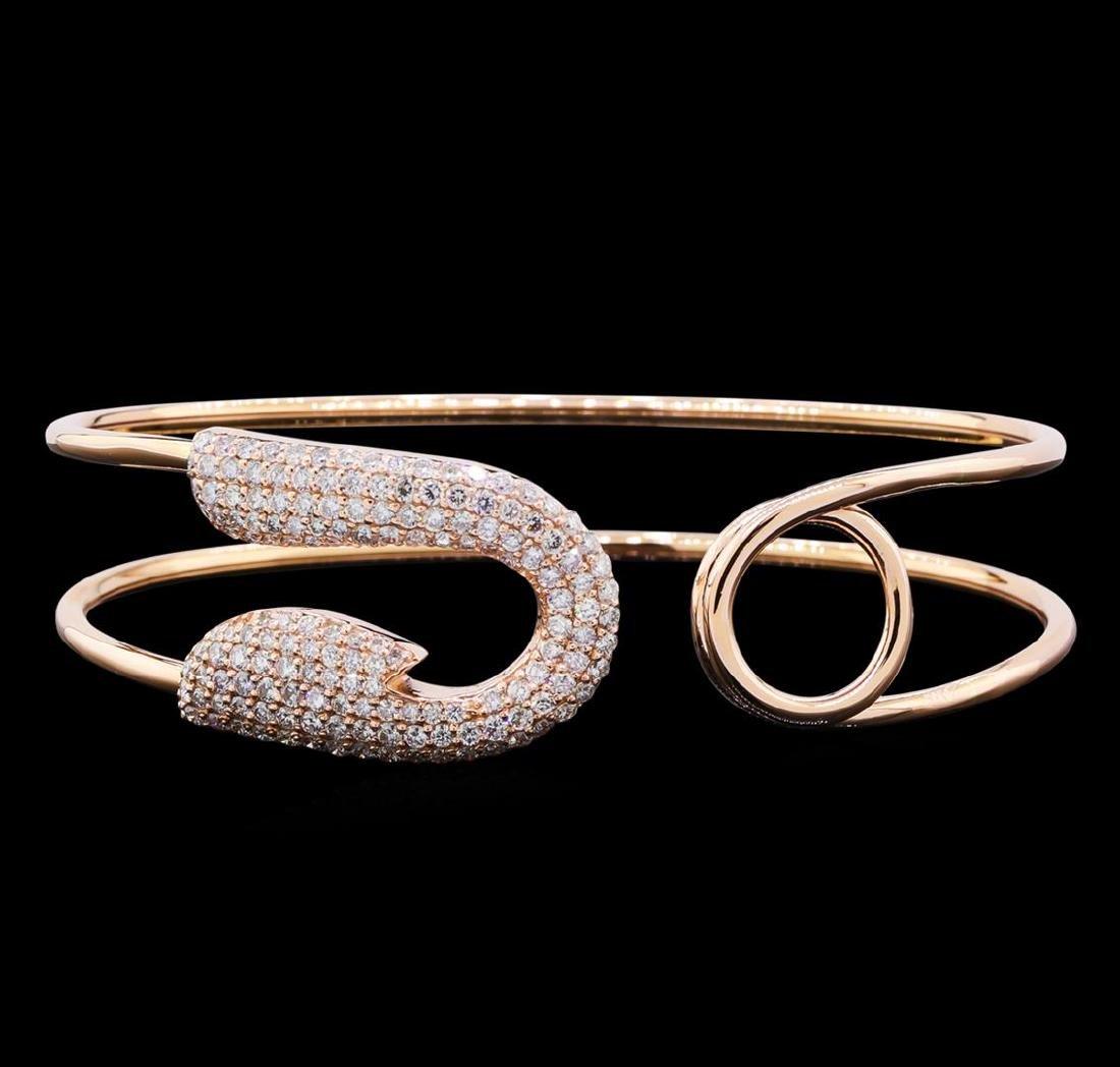 1.98 ctw Diamond Bracelet - 14KT Rose Gold