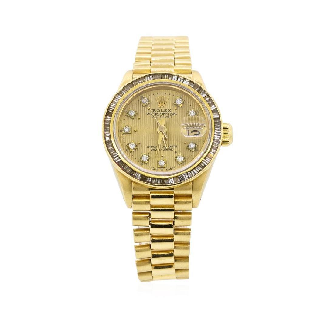 Rolex Ladies President Datejust Wristwatch