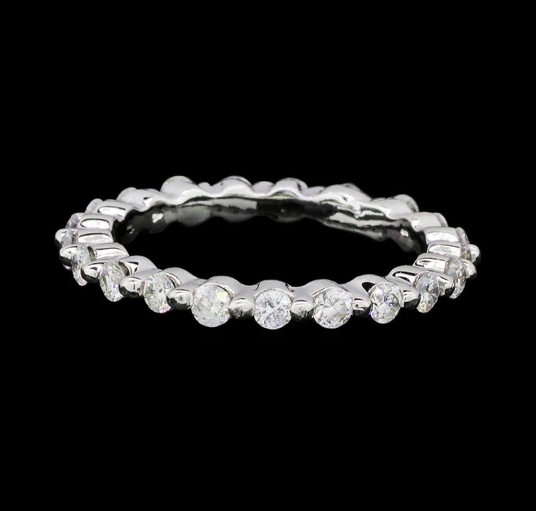 0.62 ctw Diamond Eternity Ring - 14KT White Gold