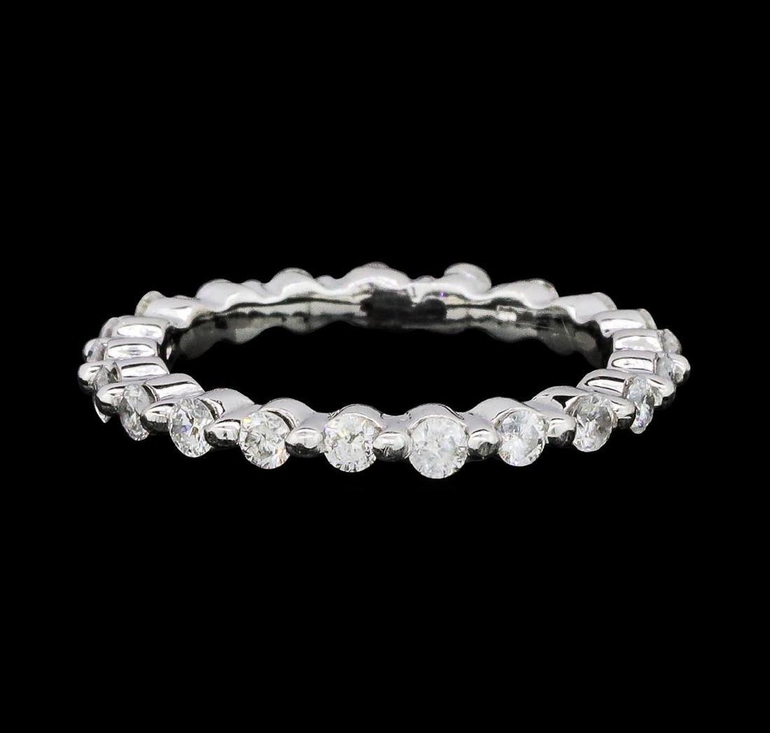 0.62 ctw Diamond Eternity Ring - 14KT White Gold - 2
