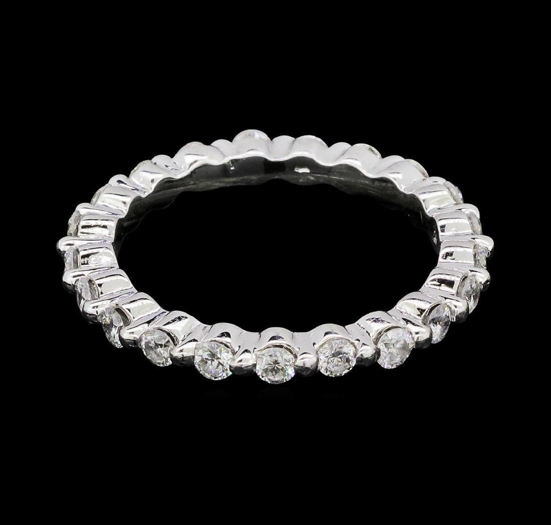 0.62 ctw Diamond Eternity Ring - 14KT White Gold - 3