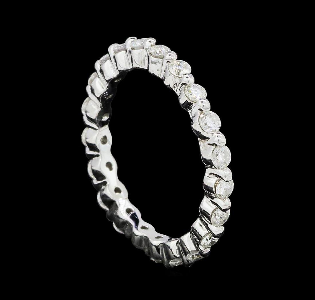0.62 ctw Diamond Eternity Ring - 14KT White Gold - 4