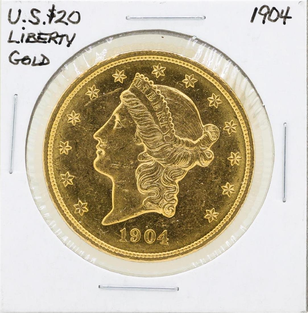 1904 $20 Liberty Double Eagle Gold Coin