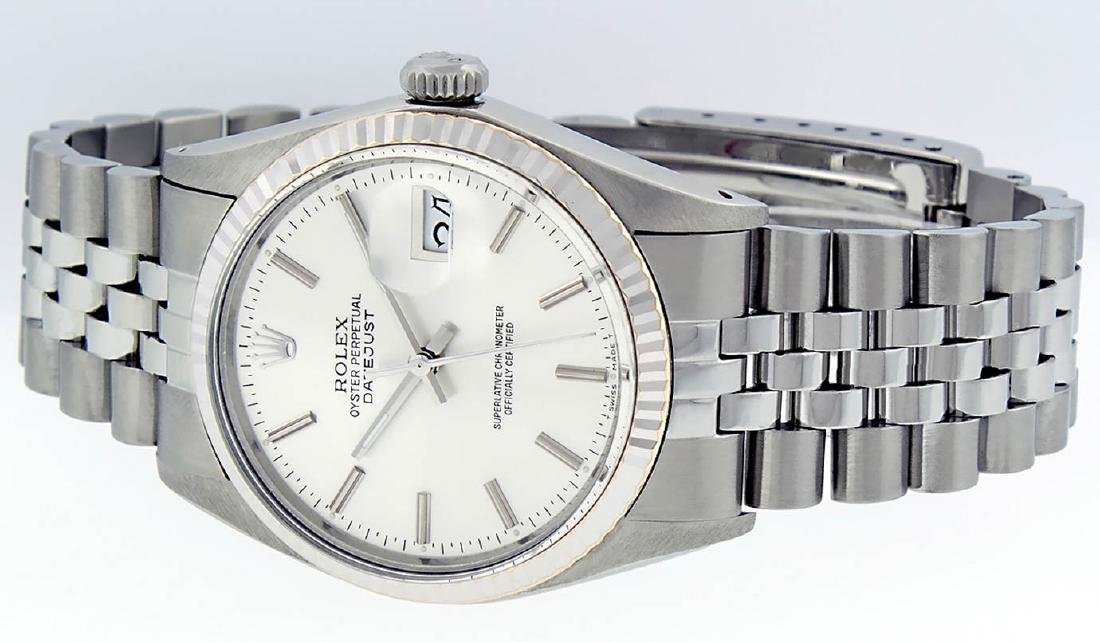 Rolex Mens Stainless Steel Silver Index DateJust Men's