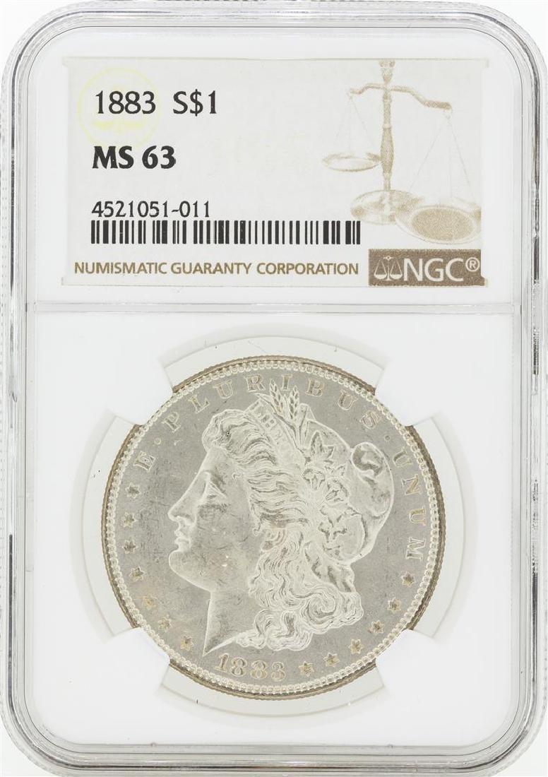 1883 MS63 NGC Morgan Silver Dollar