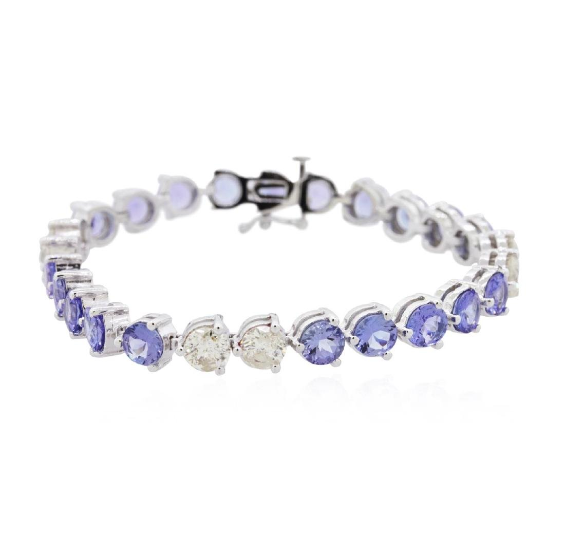 14KT White Gold 14.60 ctw Tanzanite and Diamond