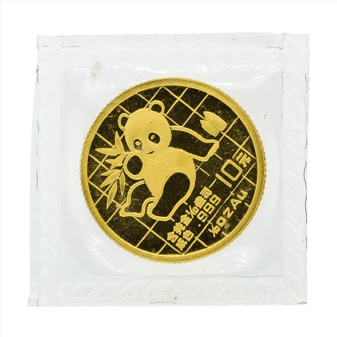 1989 10 Yuan China Panda 1/10 oz Gold Coin