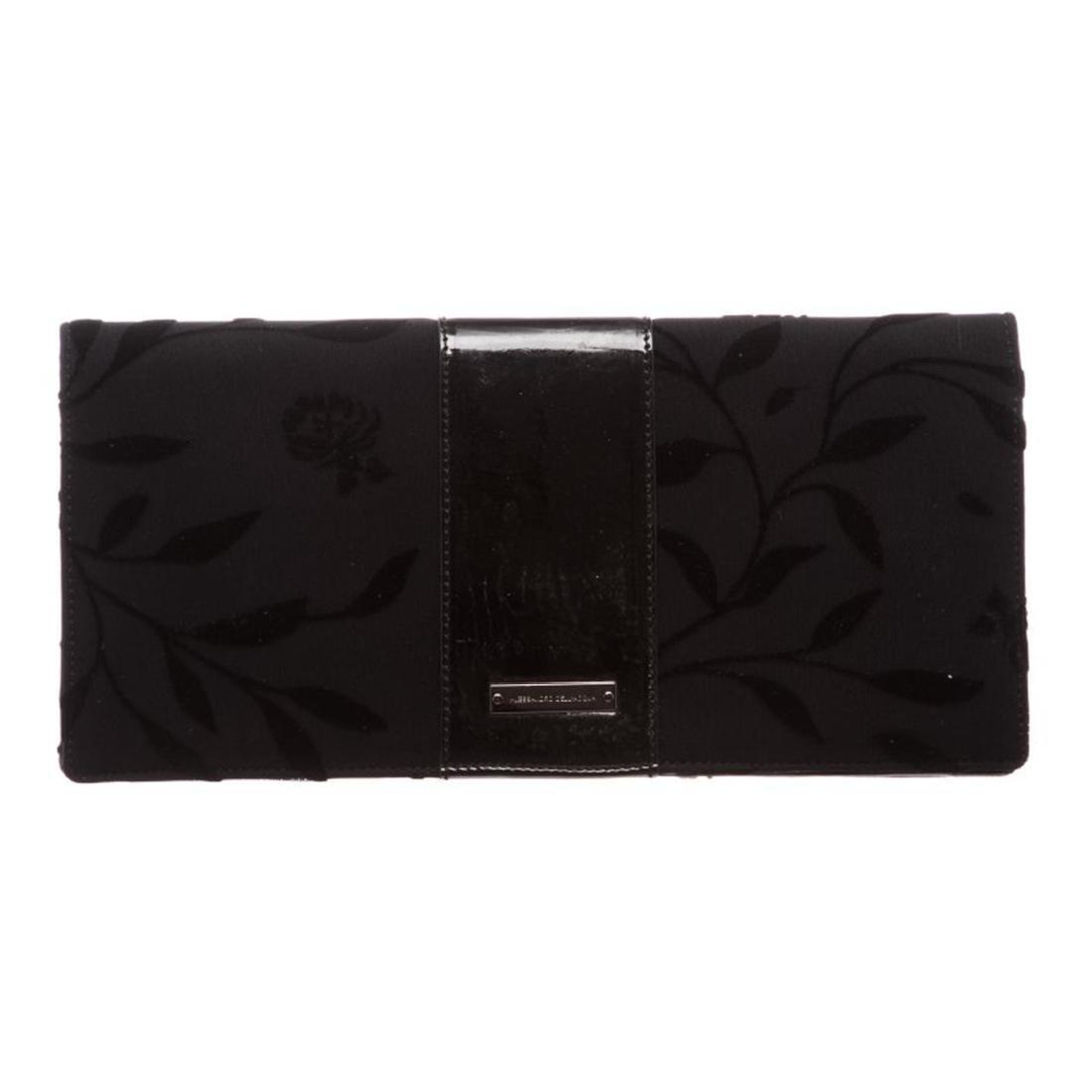 Alessandro Dell'Acqua Black Floral Fabric Clutch