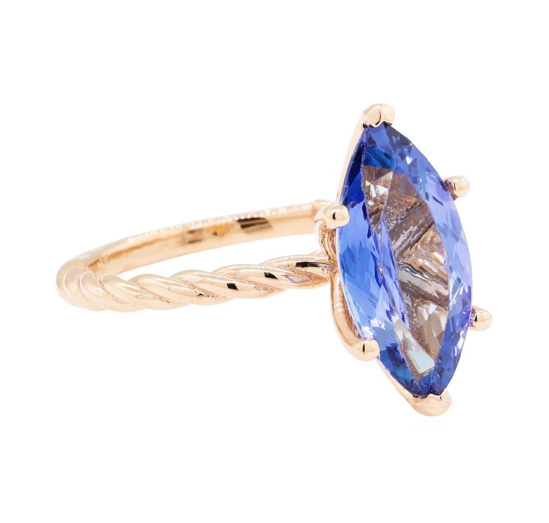 2.70 ctw Tanzanite Ring - 14KT Rose Gold
