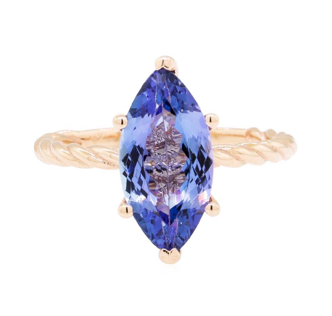 2.70 ctw Tanzanite Ring - 14KT Rose Gold - 2