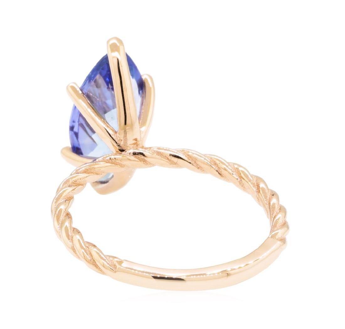 2.70 ctw Tanzanite Ring - 14KT Rose Gold - 3
