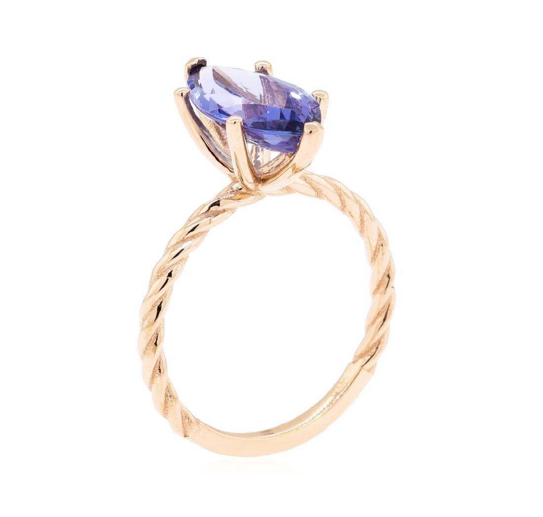 2.70 ctw Tanzanite Ring - 14KT Rose Gold - 4