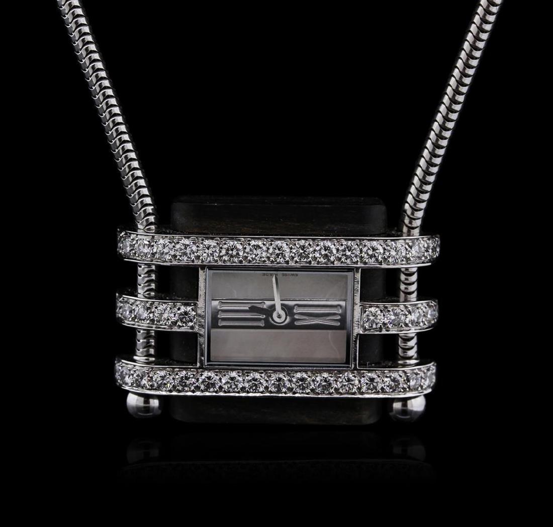 Van Cleef & Arpels 18KT White Gold Diamond Watch Chain