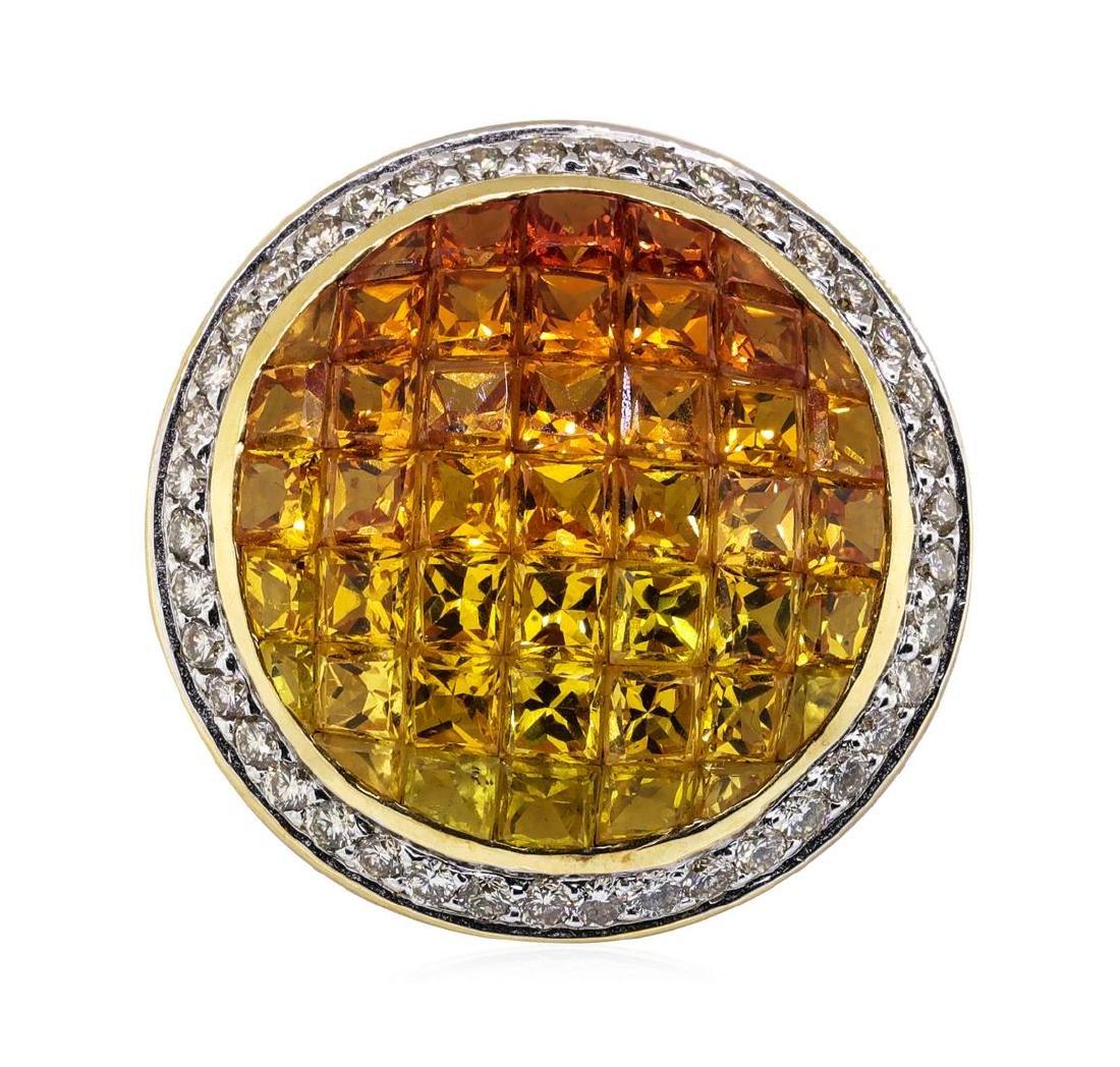 7.31 ctw Multi-colored Sapphire and Diamond Pendant -