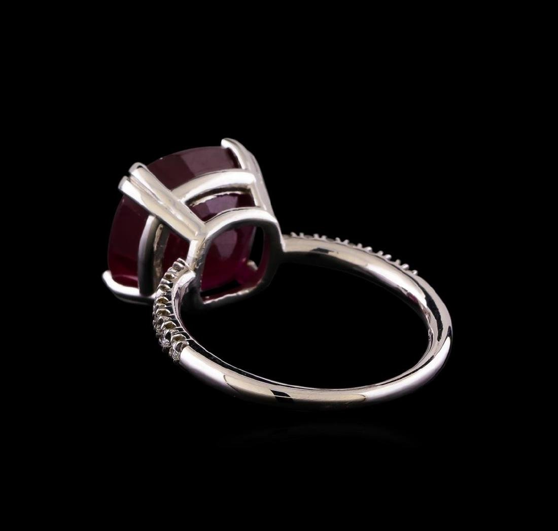 10.16 ctw Ruby and Diamond Ring - 14KT White Gold - 3