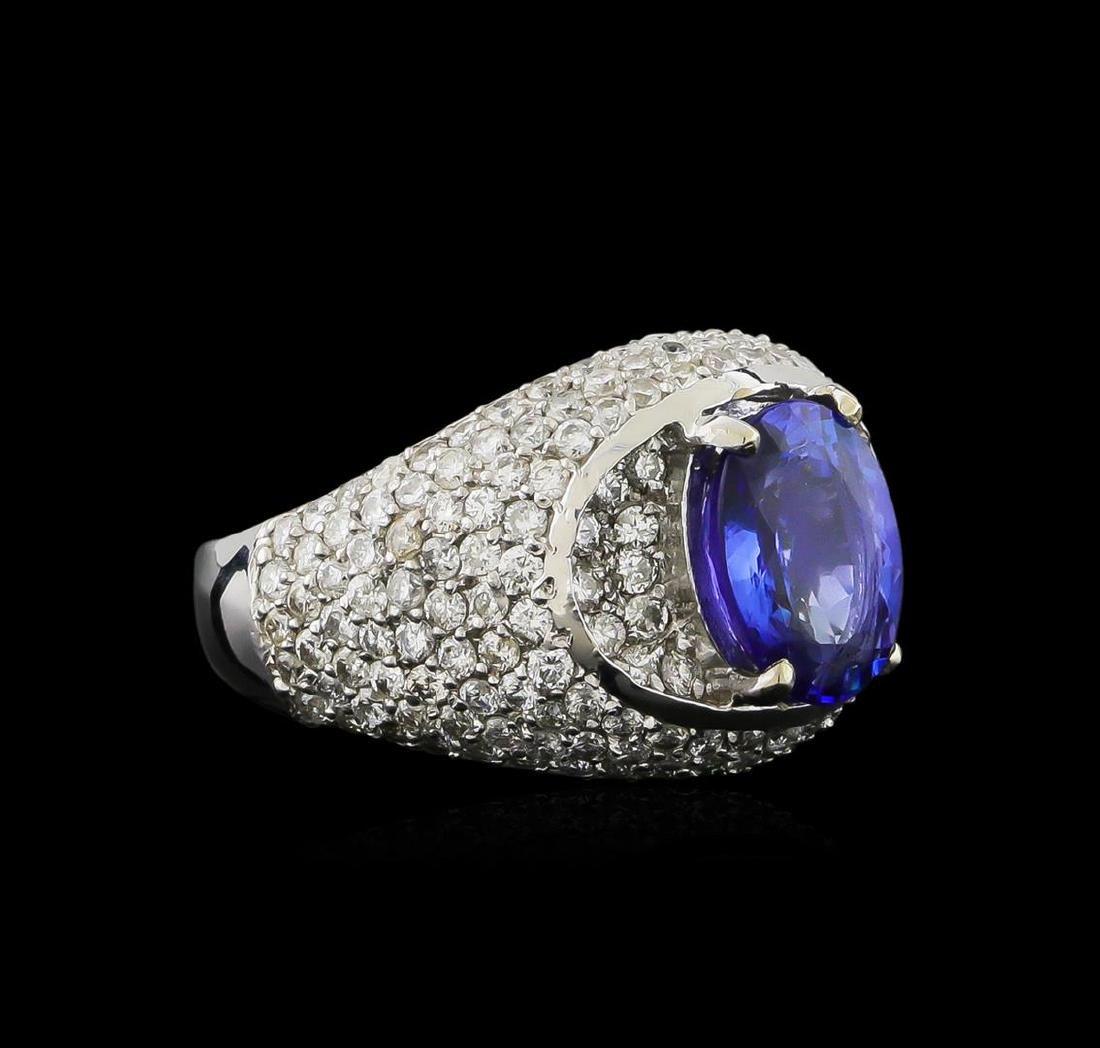 14KT White Gold 2.69 ctw Tanzanite and Diamond Ring