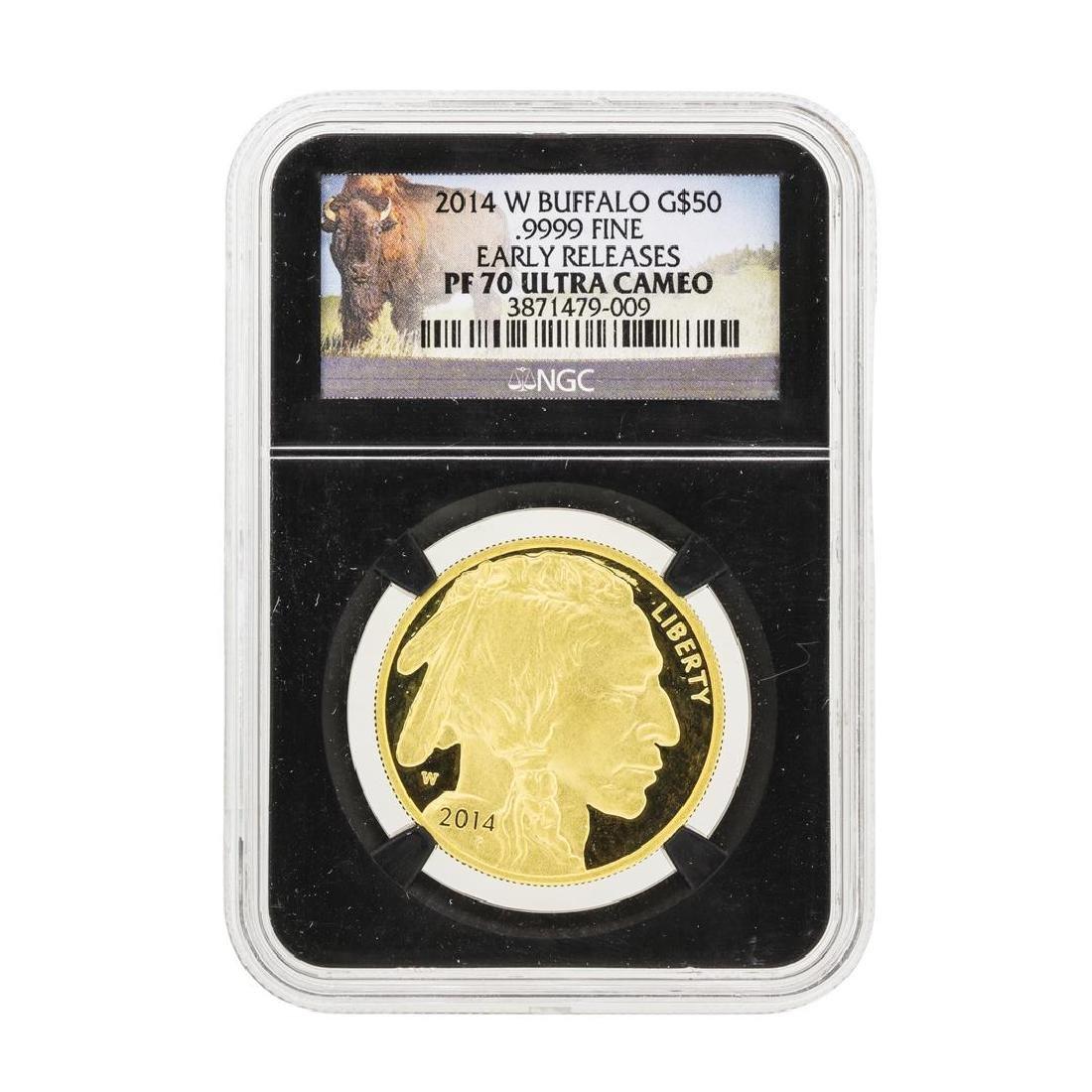 2014-W $50 American Buffalo Gold Coin NGC PS70 Ultra