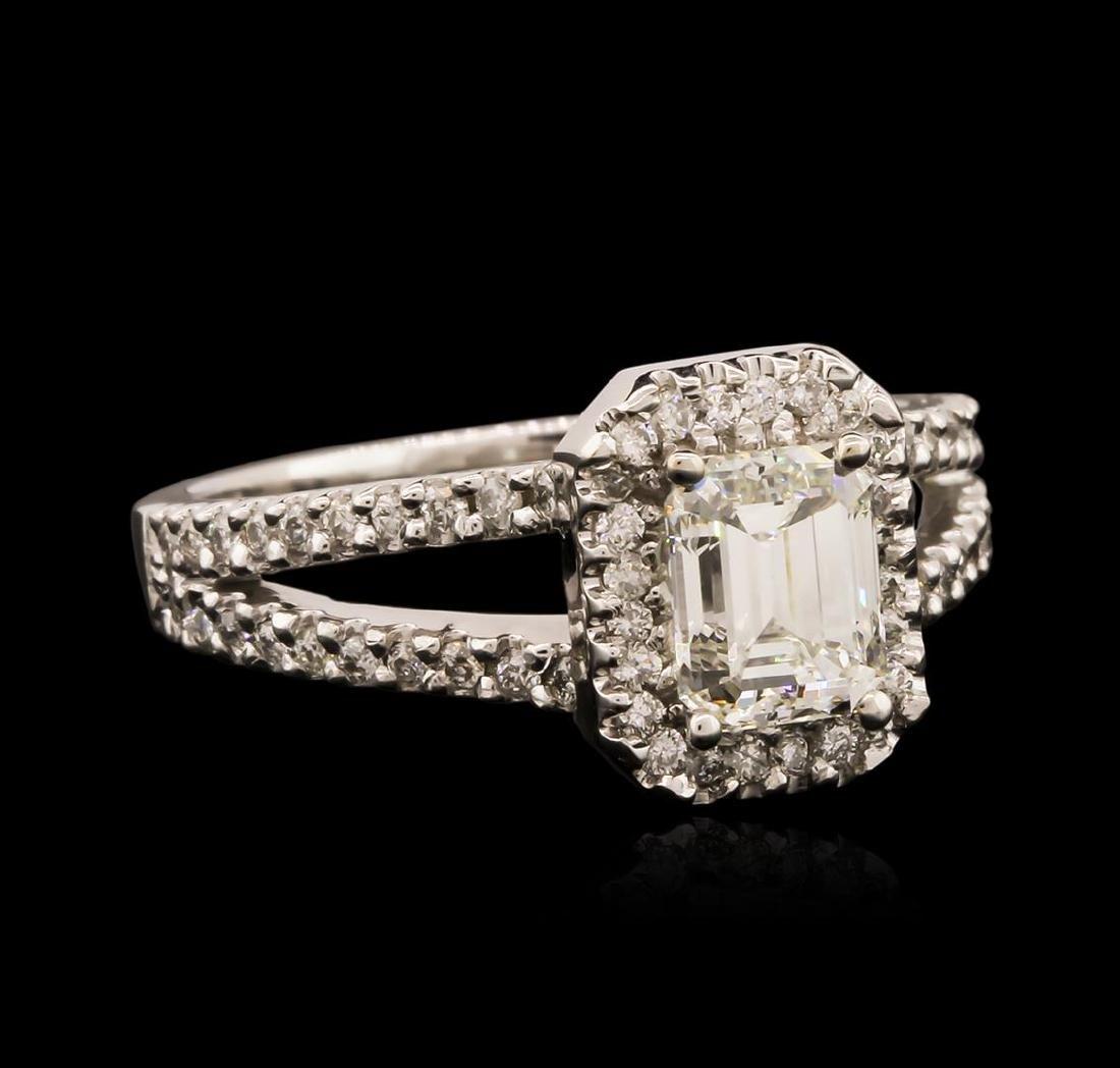 14KT White Gold EGL USA Certified 1.36 ctw Diamond Ring