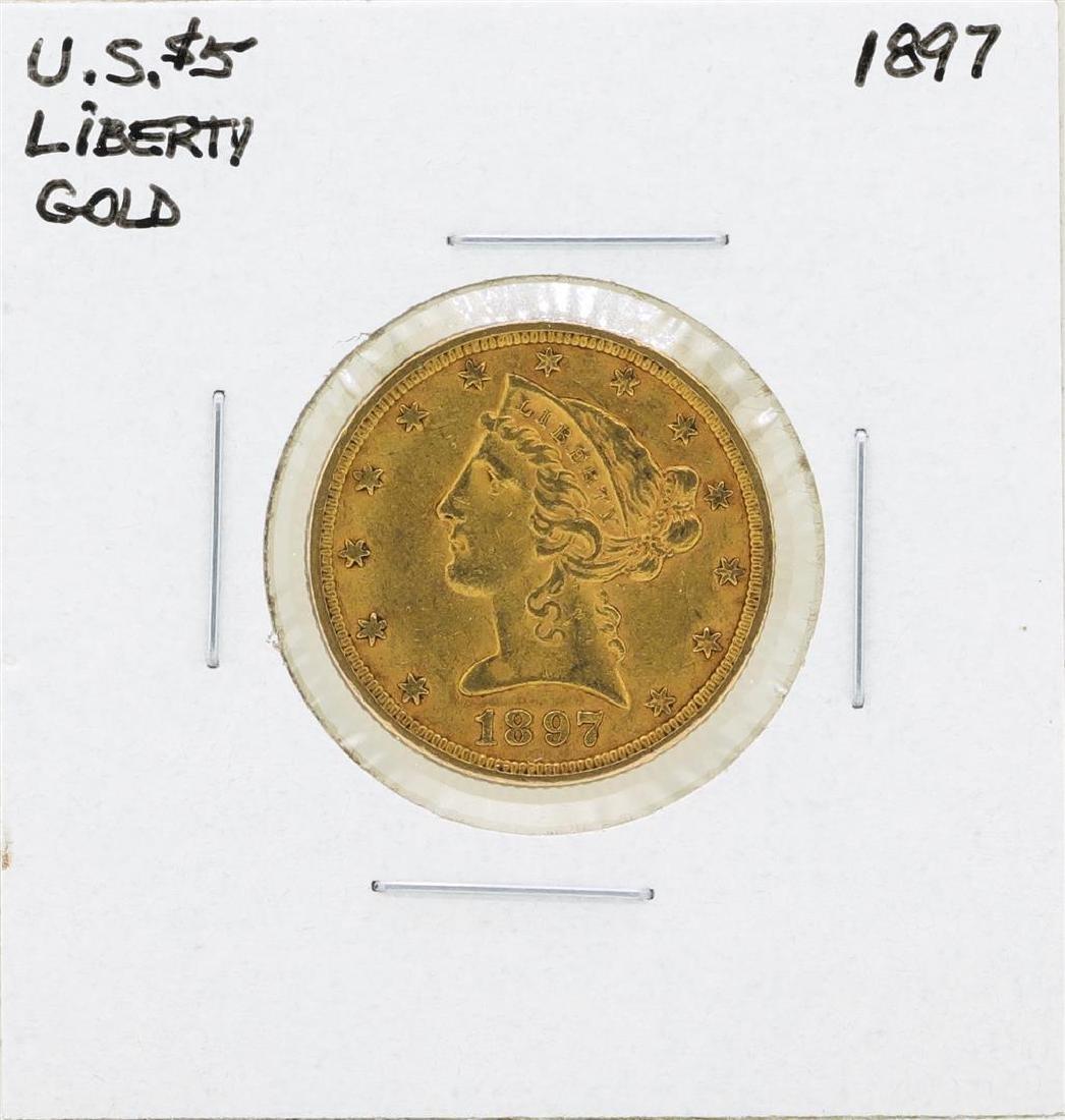 1897 $5 Liberty Head Half Eagle Gold Coin