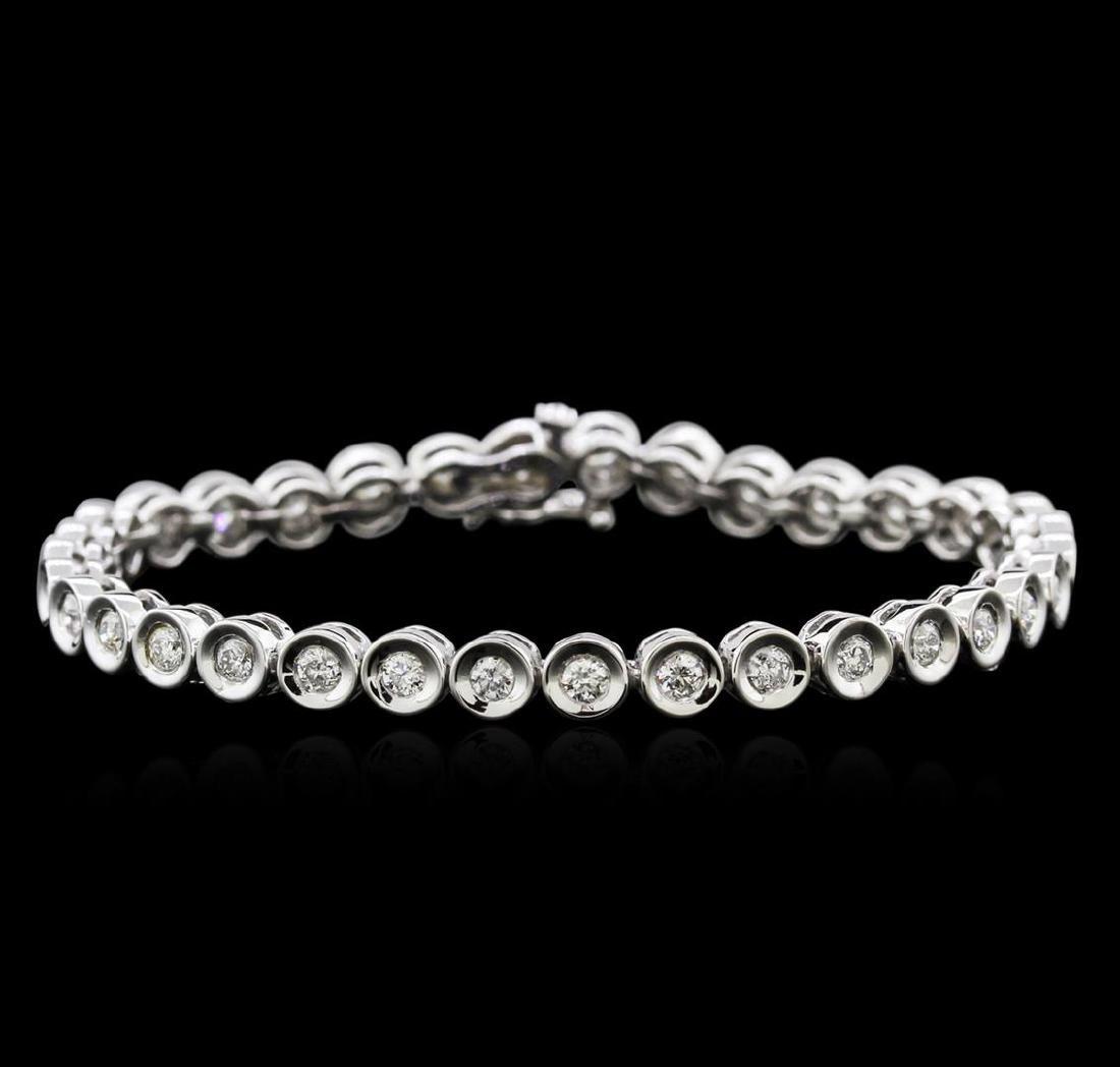 14KT White Gold 2.32 ctw Diamond Tennis Bracelet