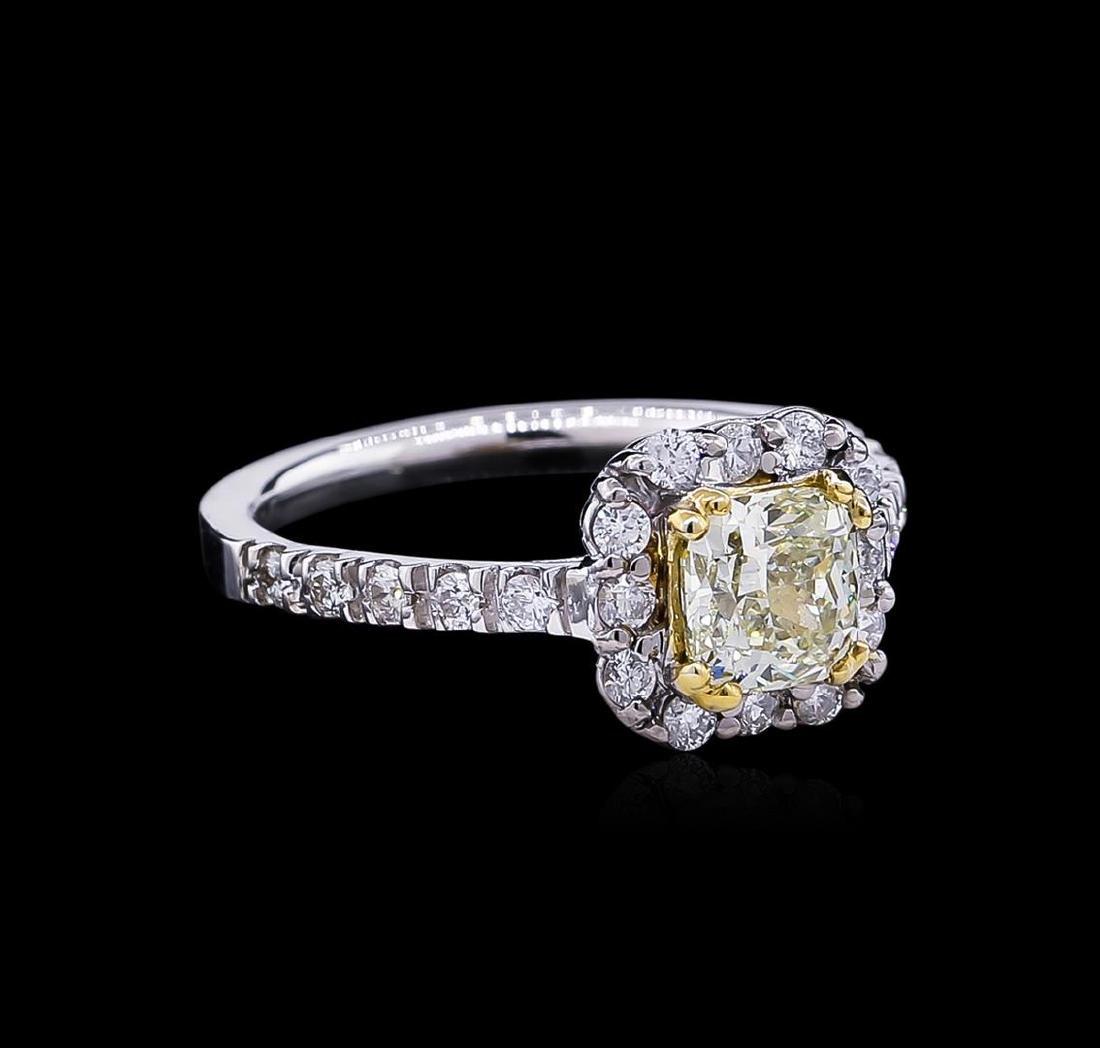 1.54 ctw Fancy Light Yellow Diamond Ring - 14KT