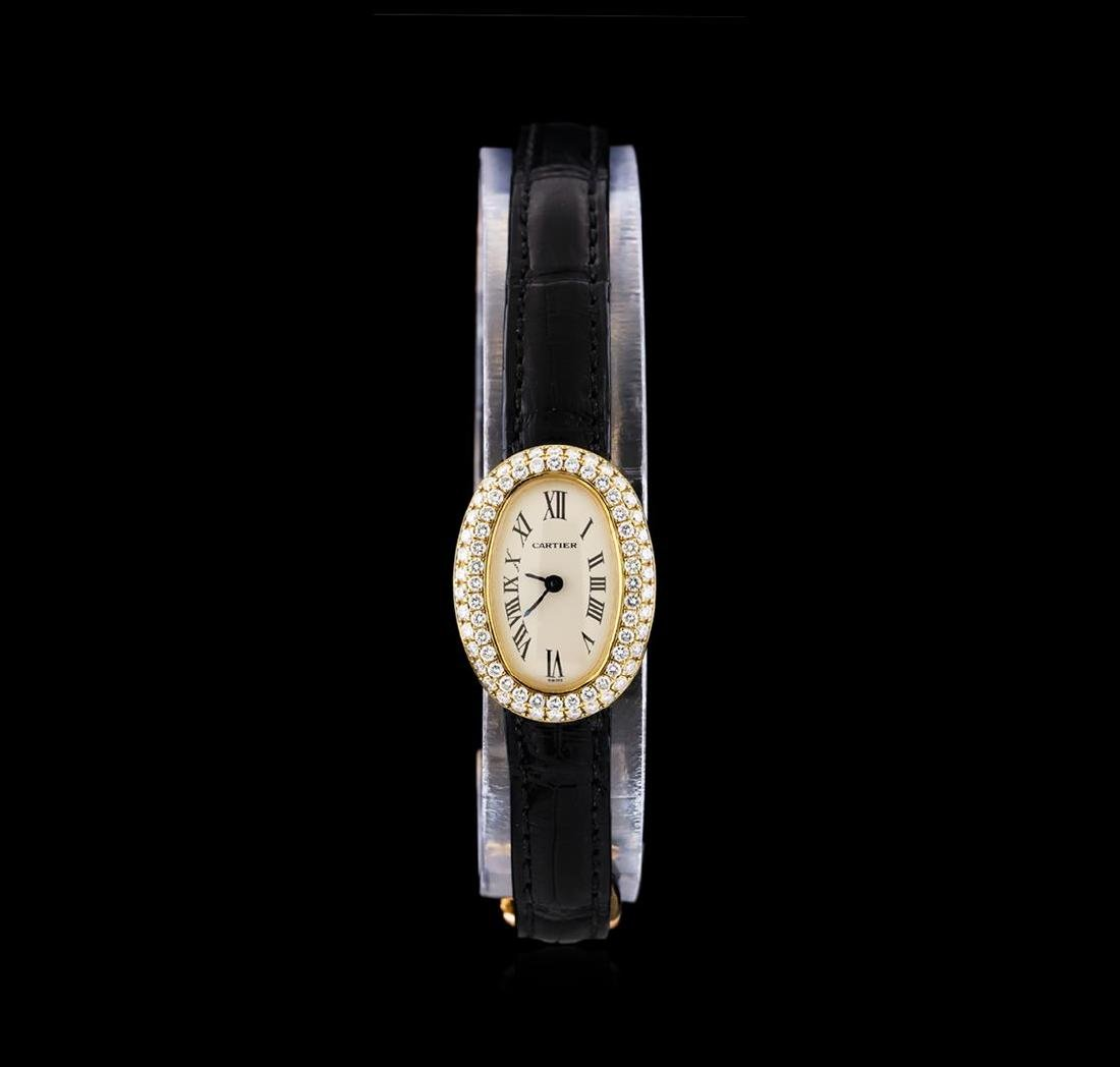 Cartier Baignoir Mini 18KT Yellow Gold Ladies Watch