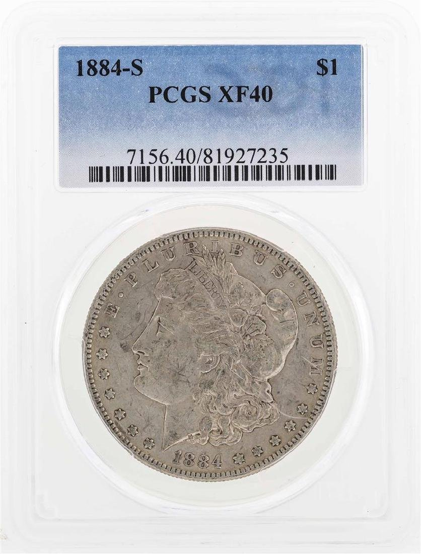 1884-S $1 Morgan Silver Dollar Coin PCGS XF40