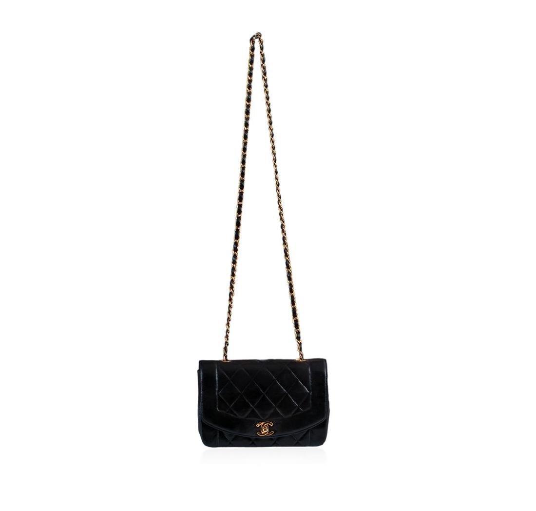 Chanel Matelasse Lamb Chain Leather Cross Body Bag