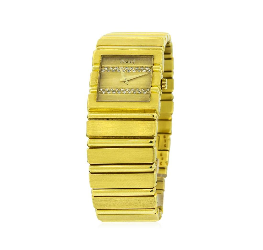 Piaget 18KT Yellow Gold Diamond Polo Watch