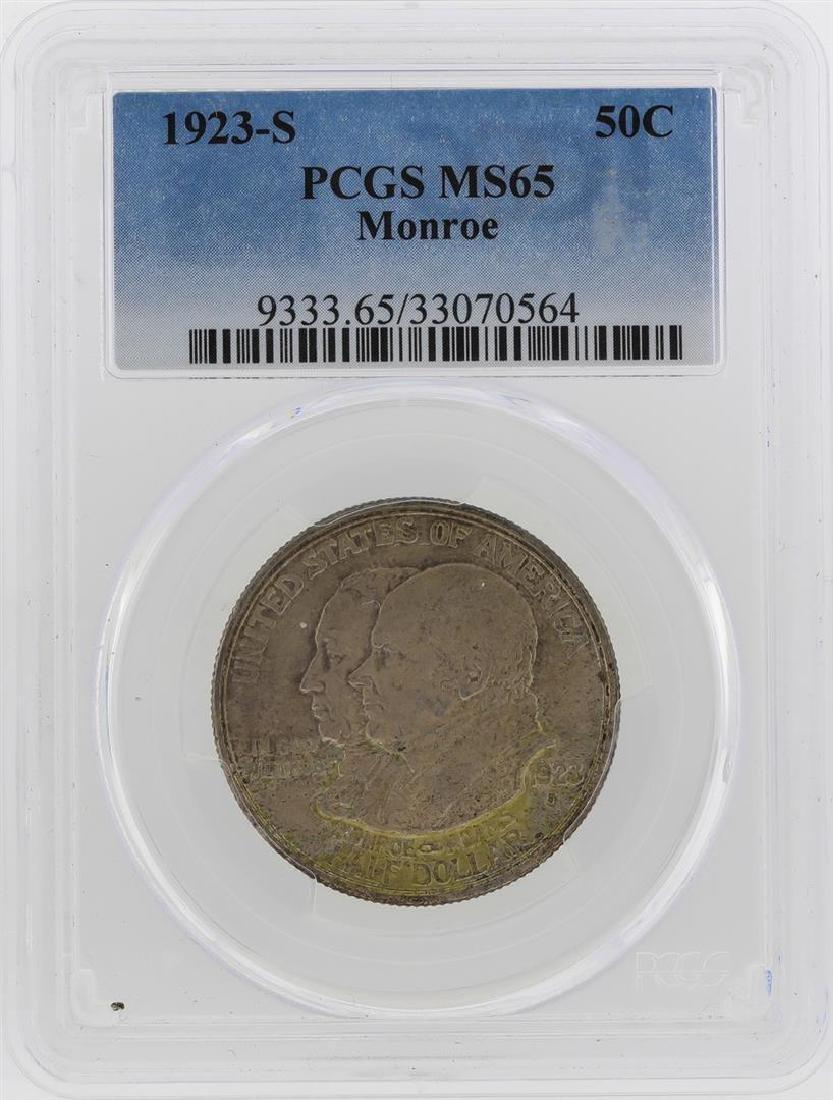 1923-S Monroe Doctrine Centennial Half Dollar Coin PCGS