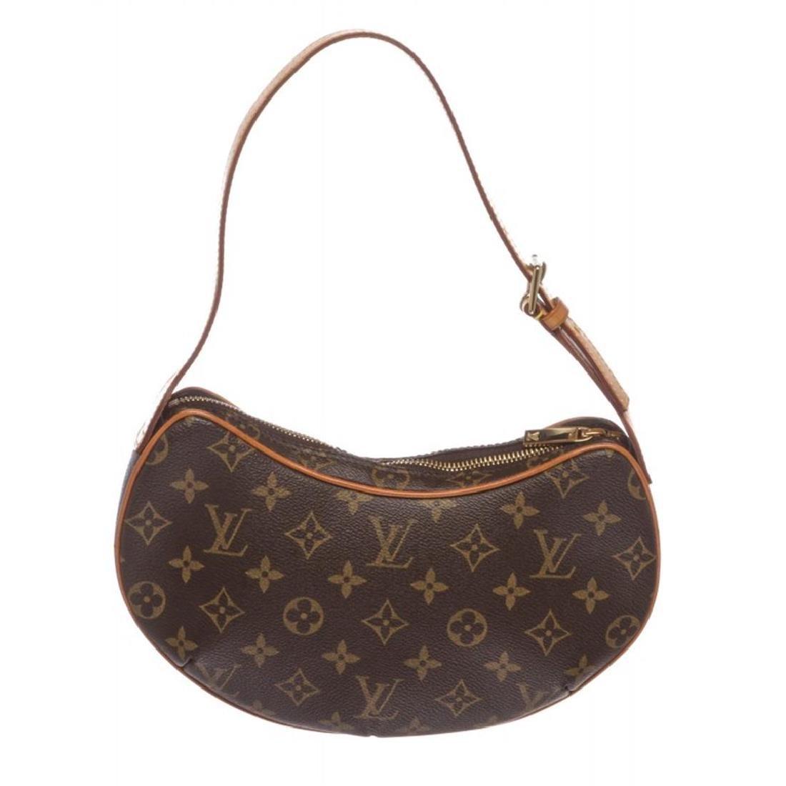 Louis Vuitton Monogram Canvas Leather Croissant PM