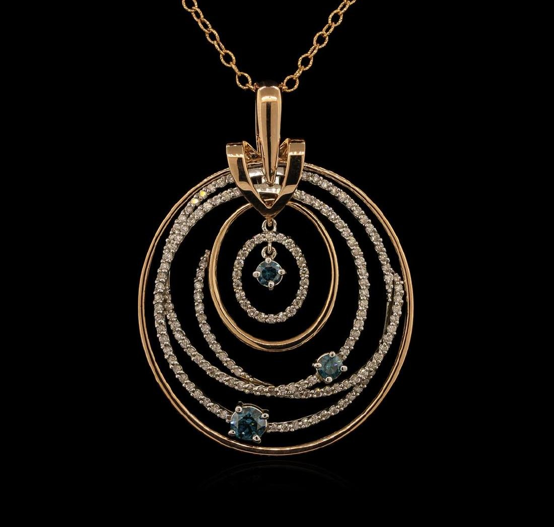 1.91 ctw Diamond Pendant With Chain - 14KT Two-Tone