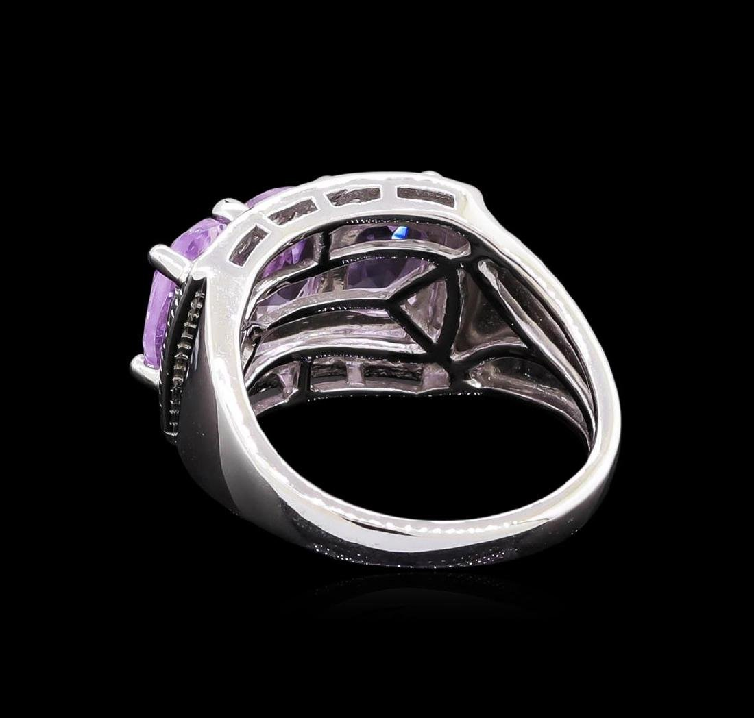 Crayola 2.10 ctw Pink Amethyst and White Sapphire Ring - 3