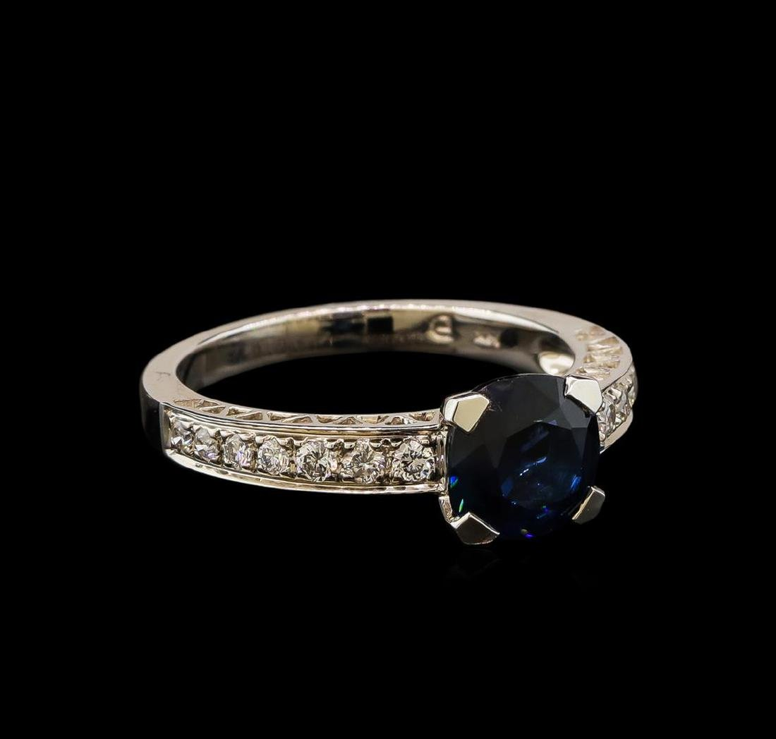 2.12 ctw Sapphire and Diamond Ring - 14KT White Gold