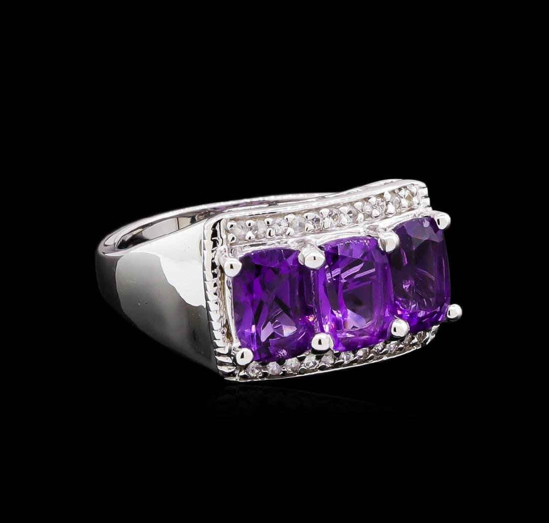 Crayola 2.40 ctw Amethyst and White Sapphire Ring -