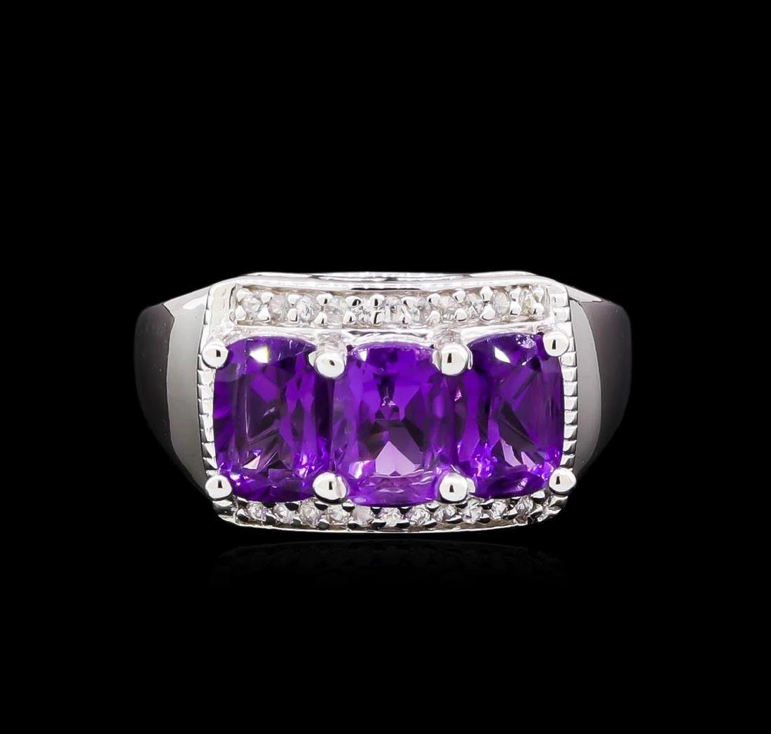 Crayola 2.40 ctw Amethyst and White Sapphire Ring - - 2