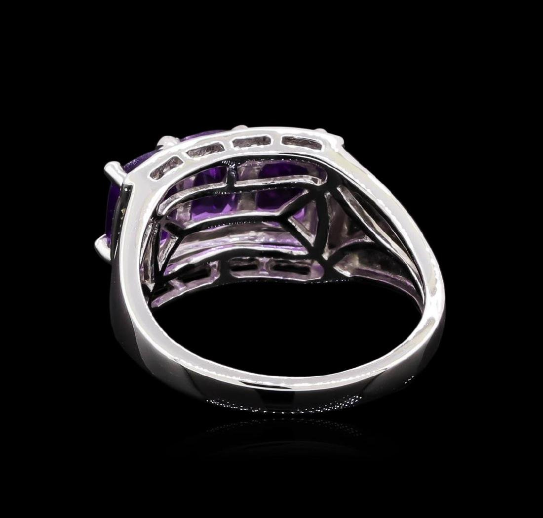 Crayola 2.40 ctw Amethyst and White Sapphire Ring - - 3