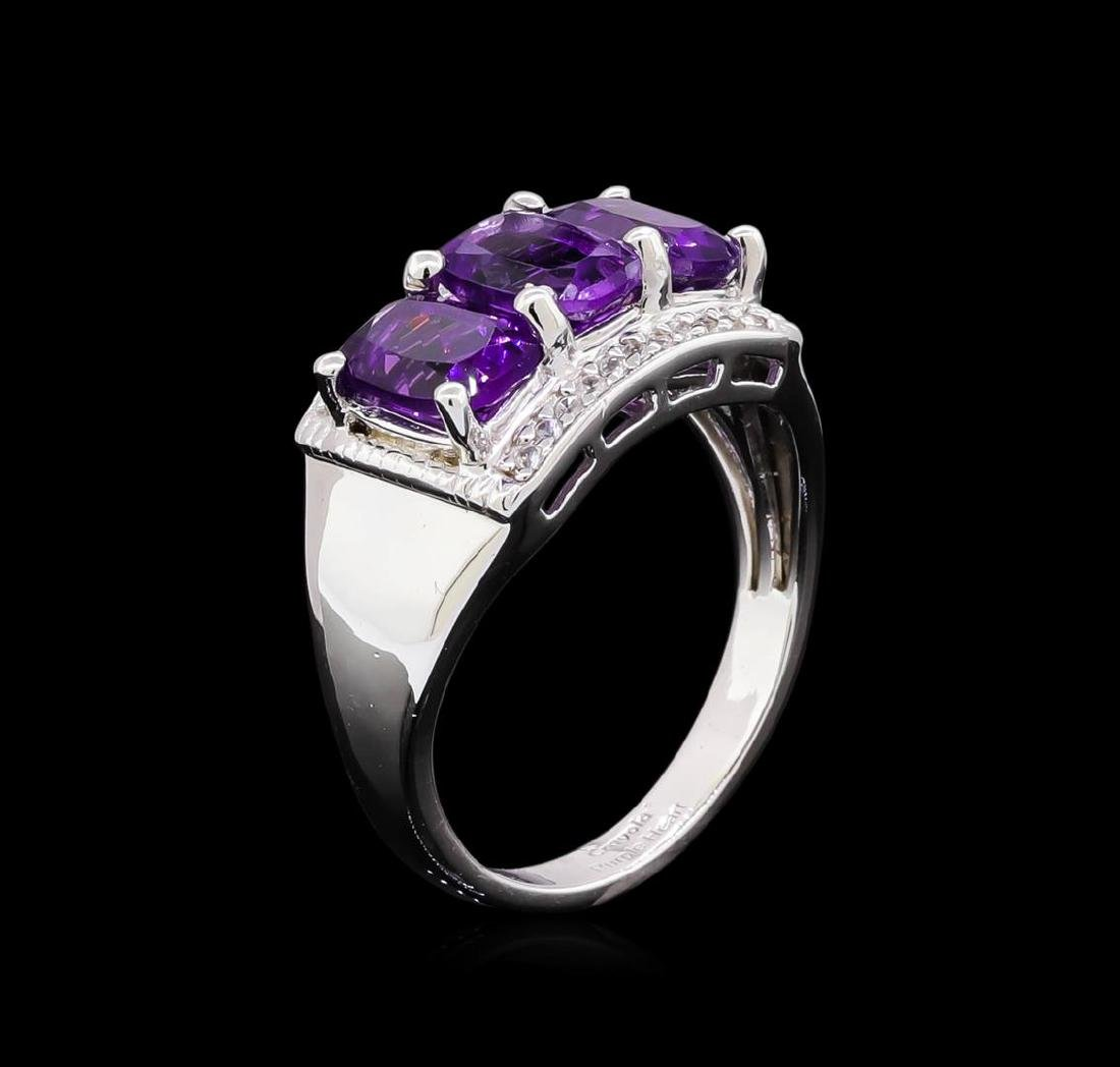 Crayola 2.40 ctw Amethyst and White Sapphire Ring - - 4