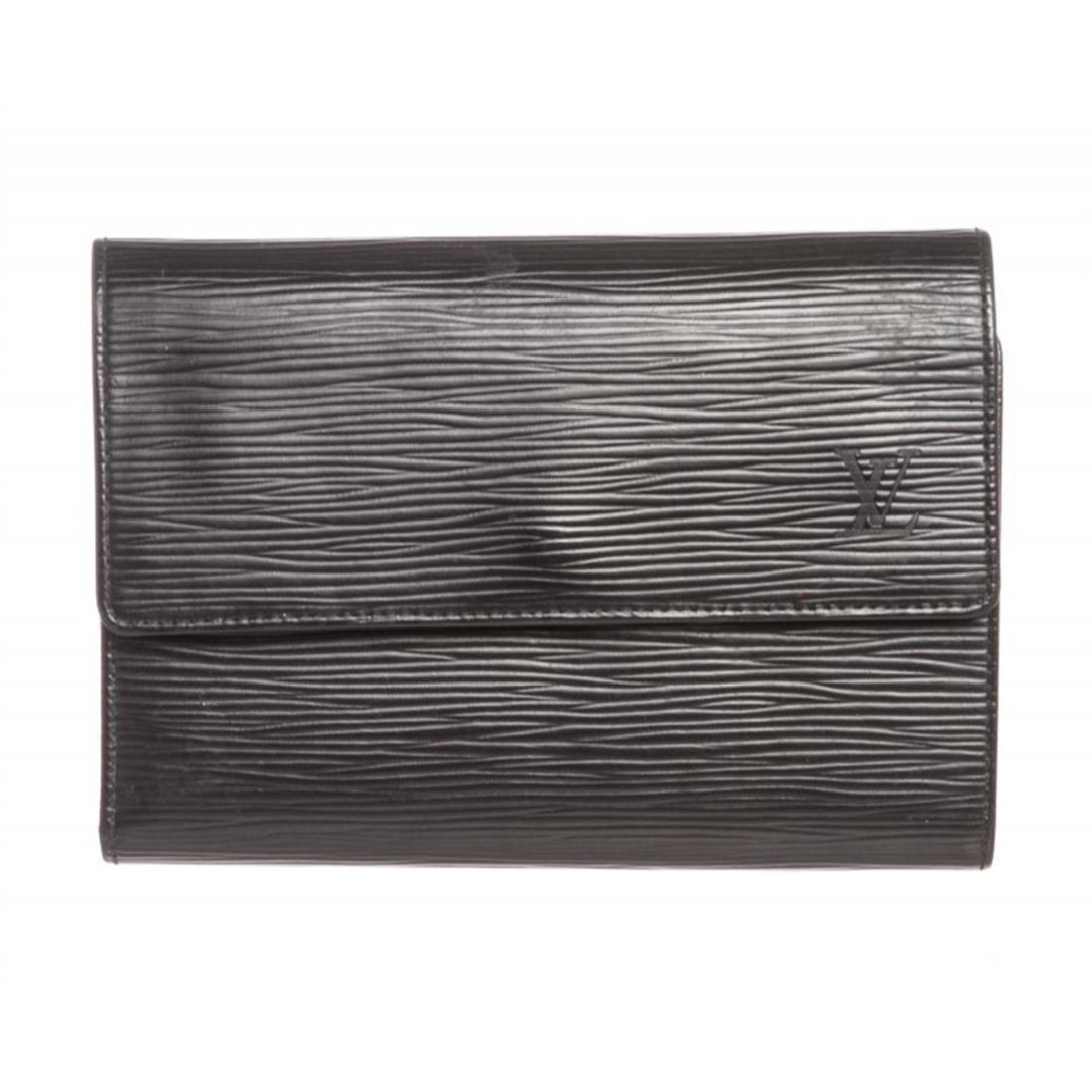 Louis Vuitton Black Epi Leather Porte Tresor