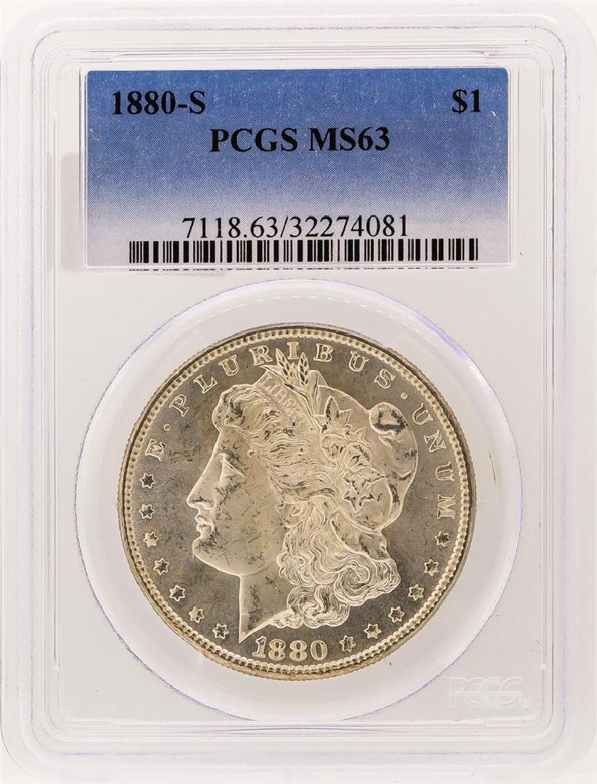 1880-S PCGS MS63 Morgan Silver Dollar