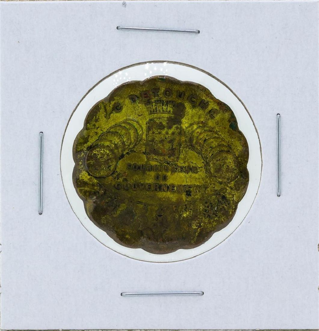 1850 France Token Jeweler Watch Maker Military Paris