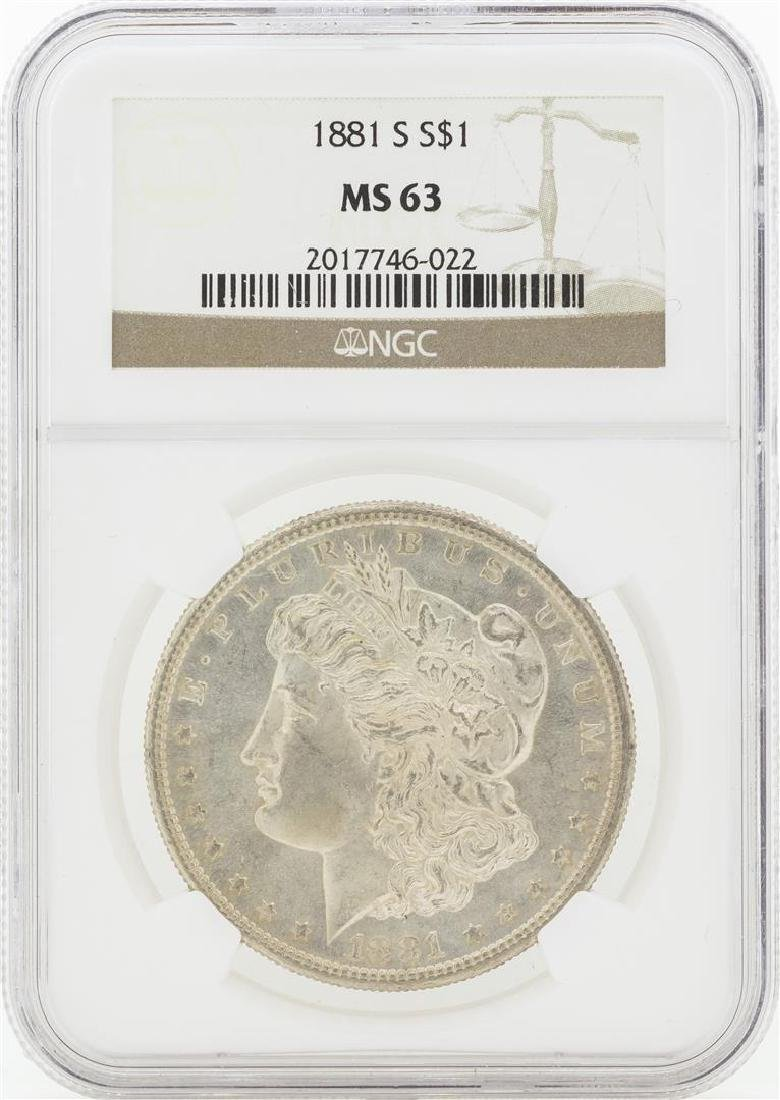 1881-S MS63 NGC Morgan Silver Dollar