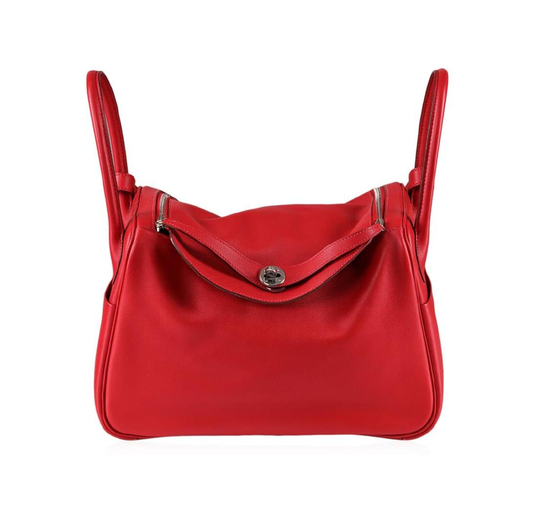 Hermes Blood Orange Swift Calfskin Bag