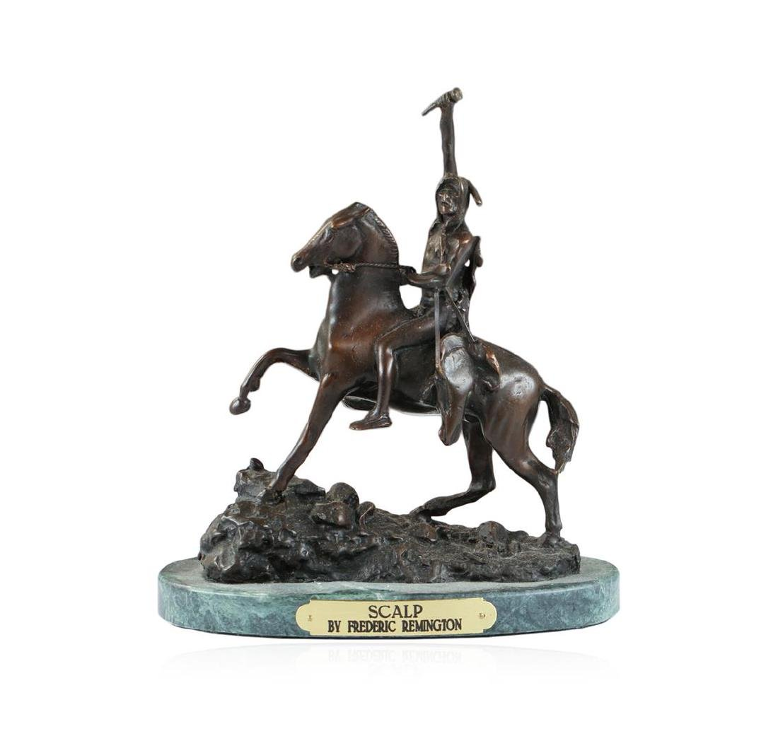 Scalp Bronze Replica By Frederic Remington