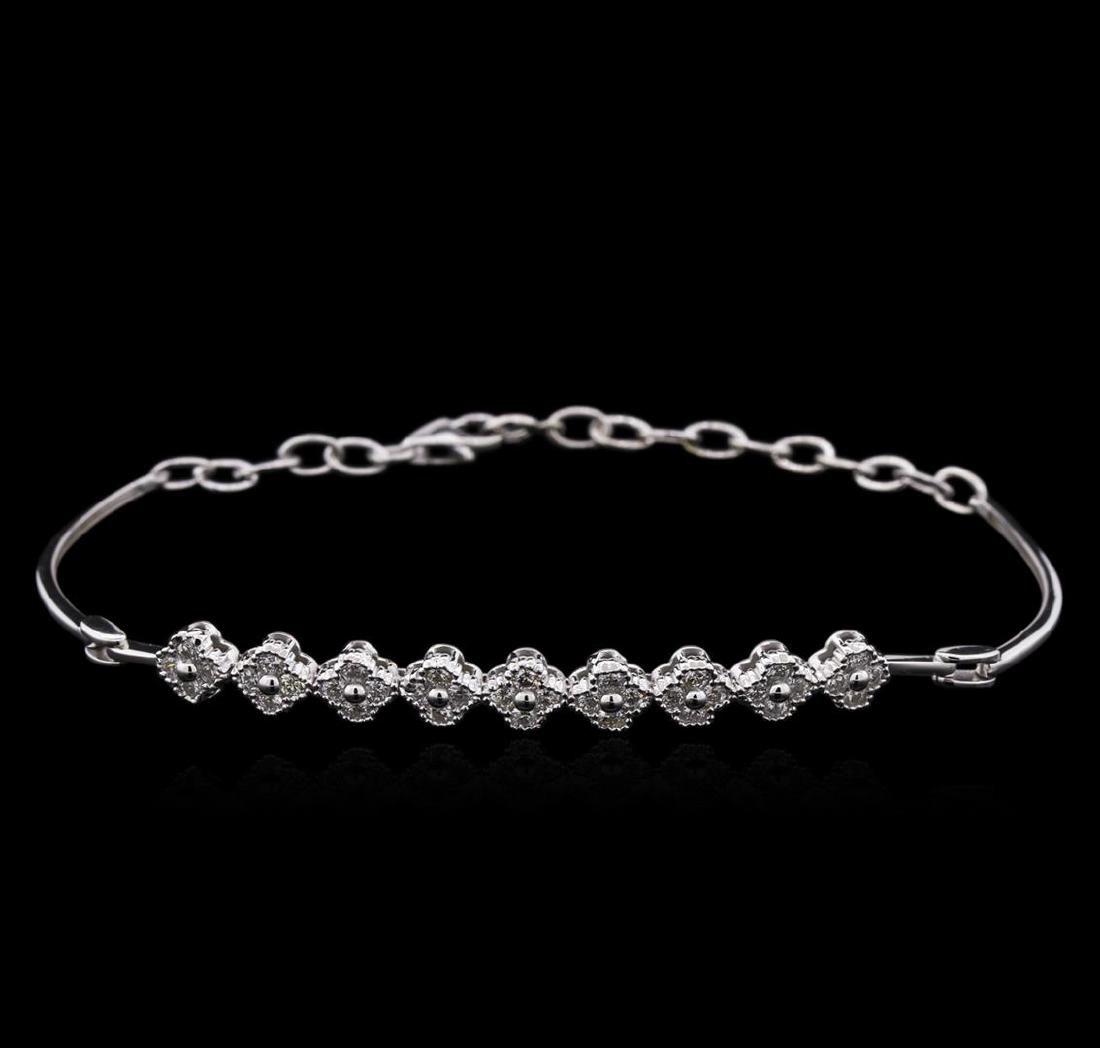 0.86 ctw Diamond Bracelet - 14KT White Gold