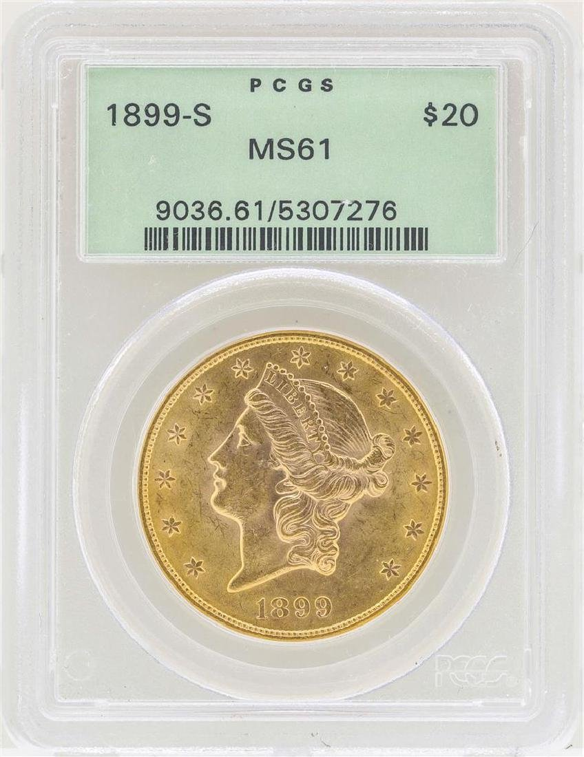 1899-S $20 Liberty Head Double Eagle Gold Coin PCGS